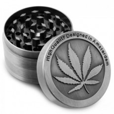 Grinder Metal Silver 2,5cm 4 layer