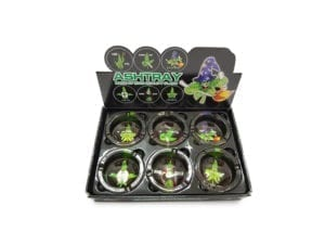 Ashtray Canna Black