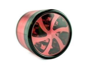 4 part Aluminium Grinder CSB Red