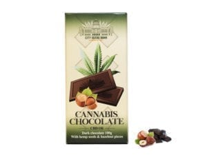 Cannabis Dark Chocolate with Hazelnuts 100g