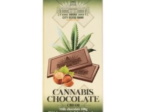 Cannabis Milk Chocolate with Hazelnuts 100g