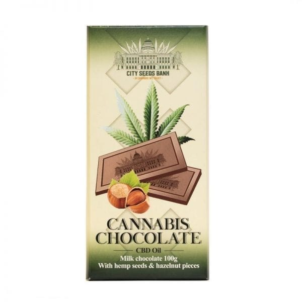 Cannabis Milk Chocolate with Hazelnuts 100g