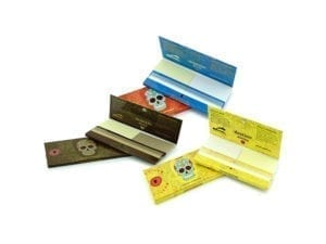 Calavera Mexicana Rolling Paper Yellow Rainbow and Brown