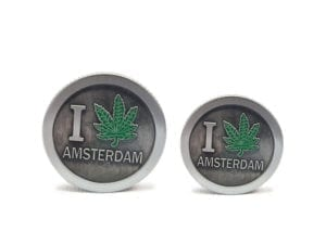 3 Tier Silver I Leaf Amsterdam Grinders Small and Mini
