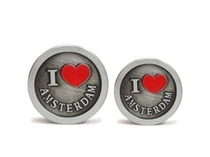 3 Tier Silver I Love Amsterdam Grinders Small and Mini