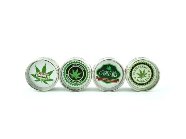 Mini Grinder 2 part Mix Cannabis