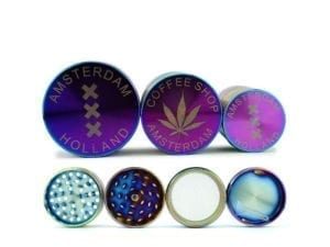 Grinder Amsterdam Purple XXX and Leaf Mix - Small Medium and Large
