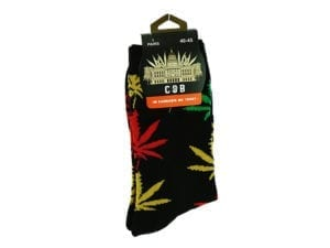 Cannabis Socks Black Red Yellow and Green 40-45