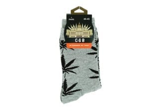 Cannabis Socks Grey and Black 40-45