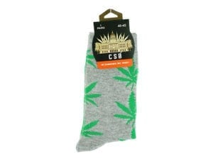 Cannabis Socks Grey and Green 40-45