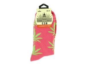 Cannabis Socks Pink and Green 36-41