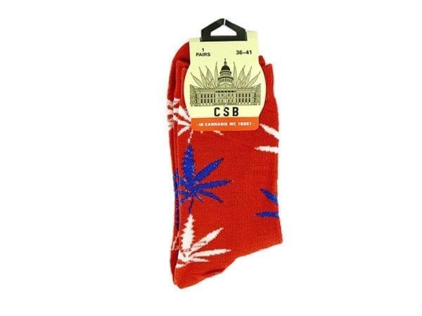 Cannabis Socks Red 36-41