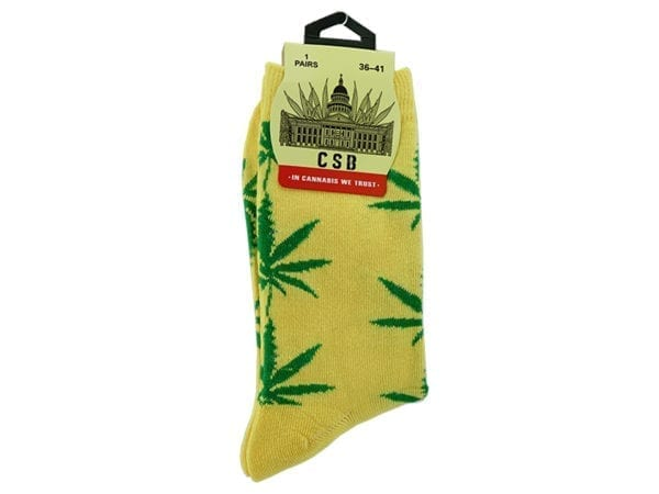Cannabis Socks Yellow 36-41