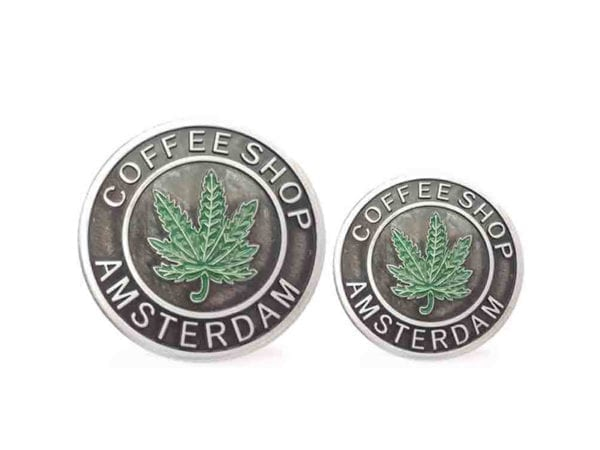 3 Tier Silver Coffeeshop Amsterdam Grinders Small and Mini