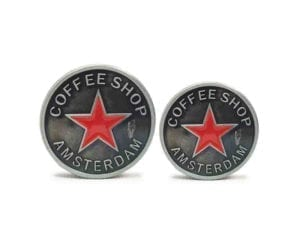 3 Tier Silver Star Coffeeshop Amsterdam Grinders Small and Mini