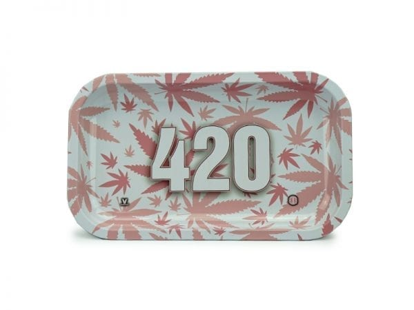 V-syndicate 420 Pink Leaf Rolling Trays