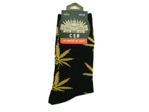 Cannabis Socks Black and Gold 40-45.