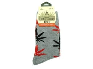 Cannabis Socks Grey Red and Black 36-41