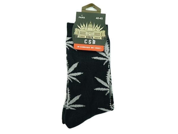 Cannabis Socks Navy and Grey 40-45