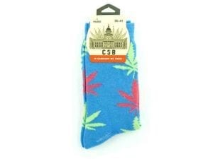 Cannabis Socks Blue Green and Pink 36-41