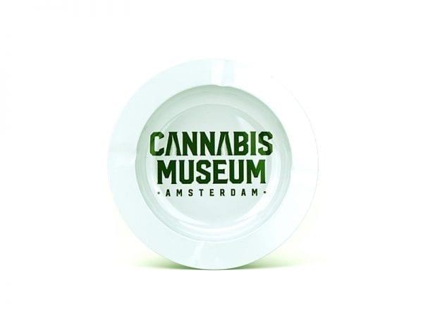 Cannabis Museum Ashtray - White