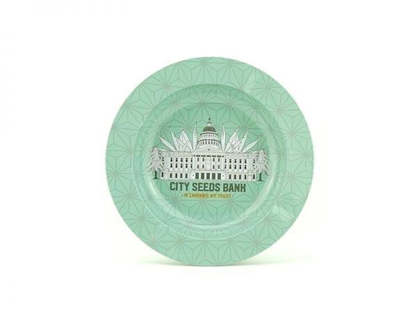 City Seeds Bank Ashtray - Green