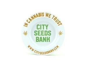 City Seeds Bank Ashtray - White