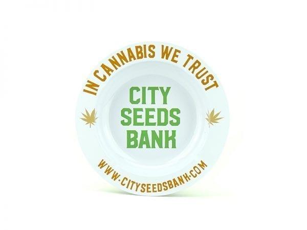 City Seeds Bank Ashtray - White