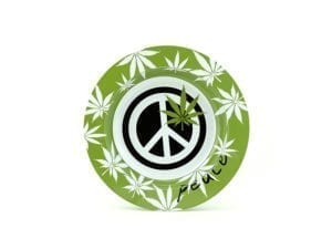 Peace Sign Ashtray - Green