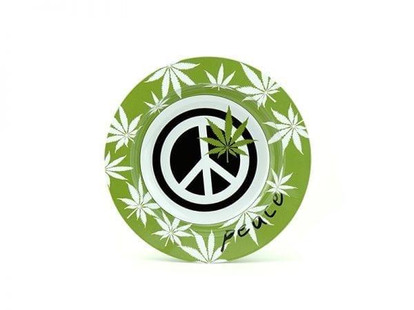 Peace Sign Ashtray - Green