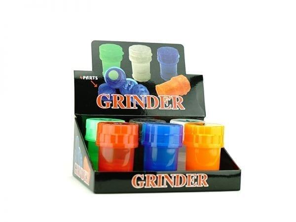 4 Part Large Plastic Grinders - 6 Piece