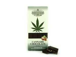 Cannabis Dark Chocolate with Hazelnuts 40gr