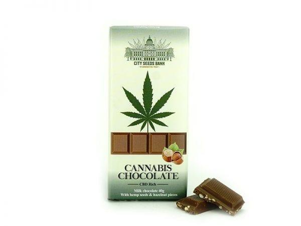 Cannabis Milk Chocolate with Hazelnuts 40gr