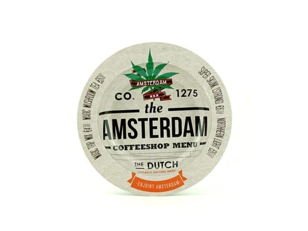 Metal Ashtray The Amsterdam Menu