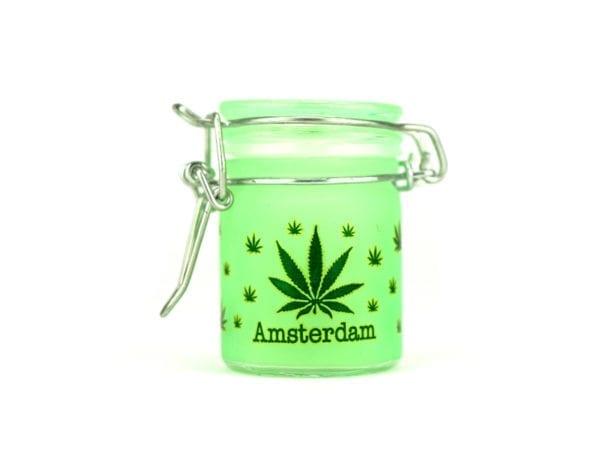 Airtight Green Cannabis Jar