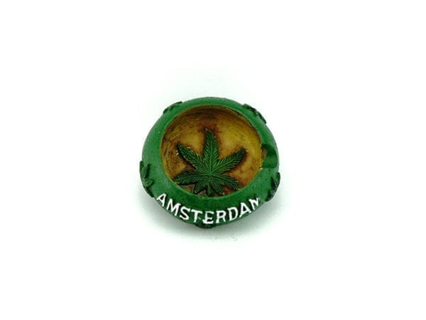 Mini Ashtray Green Amsterdam 12p