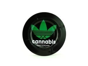 Metal Ashtray Cannabis Black