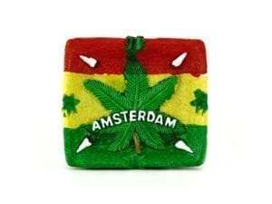 Ashtray Rasta Joint Leaf