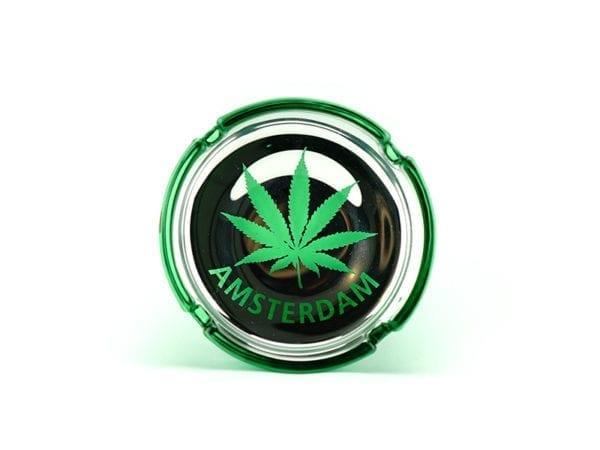 Ashtray Glass - Amsterdam Leaf