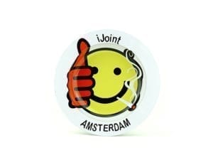 Metal Ashtray Amsterdam Smiley