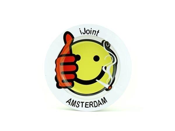 Metal Ashtray Amsterdam Smiley