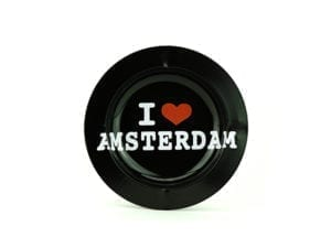 Metal Ashtray I Love Amsterdam