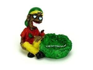 Ashtray Rasta Man Sitting