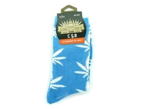 Cannabis Socks Baby Blue and White 40-45