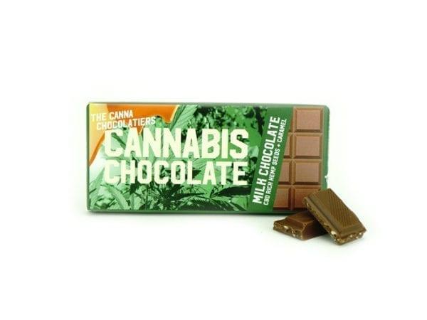 Cannabis Milk Chocolate with Caramel 40gr