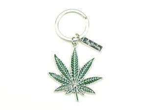 Keychain Weed Leaf 12p