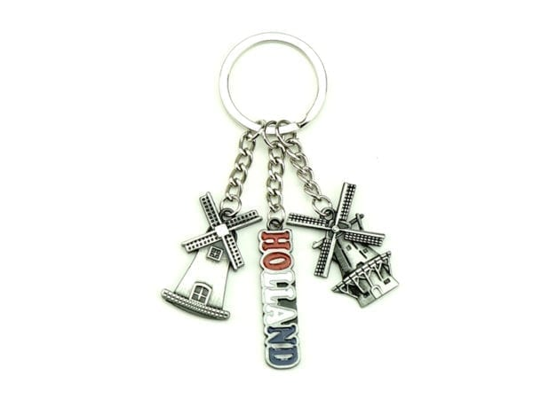 Keychain Triple Silver 12p