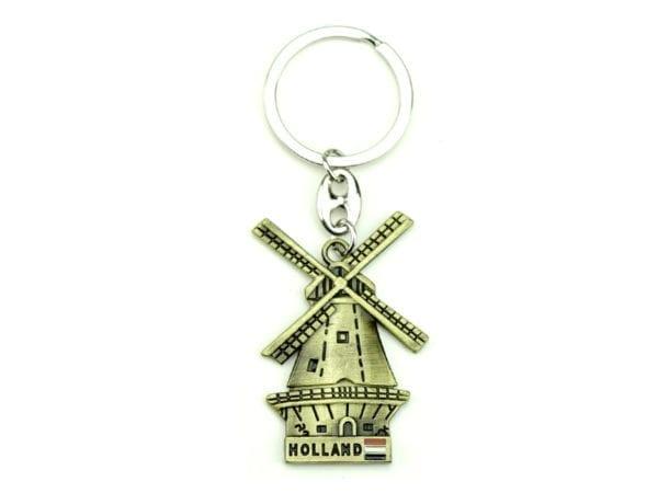 Keychain Windmill Gold 12p