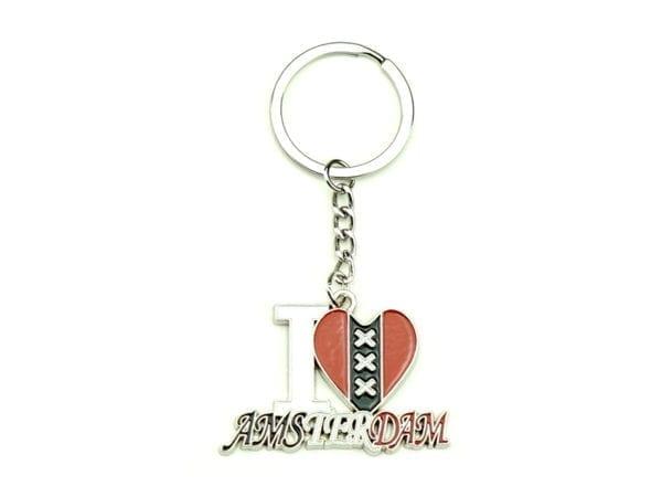 Keychain I Love Amsterdam 12p