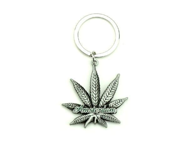 Keychain Classy Weed Leaf 12p